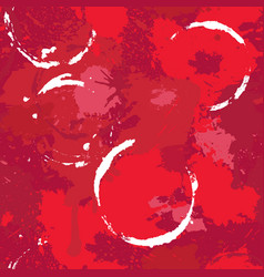 Abstract seamless pattern with red wine stains vector