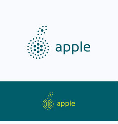 apple dots company logo vector image