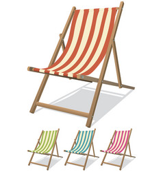 Beach chair set vector