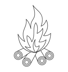bonfire icon outline style vector image