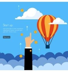 Business start press flat design vector image