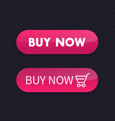 Buy now buttons for web vector
