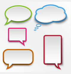Colorful abstract speak bubbles template vector