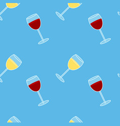 Colorful drawing alcohol drink seamless pattern vector