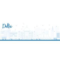Delhi outline vector