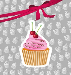 delicious cupcake design vector image