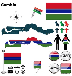 Gambia map vector image vector image