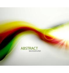 Green orange blur wave background vector image