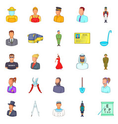 Industry icons set cartoon style vector