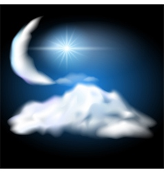 Night sky vector image