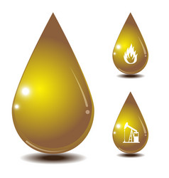 Oil drop isolate on white back ground vector