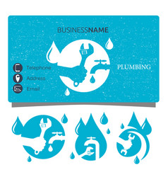 plumbing repair business card design vector image