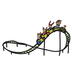 roller coaster vector image