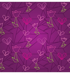 seamless origami pattern vector image vector image