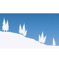 Silhouette of spruce in snow vector