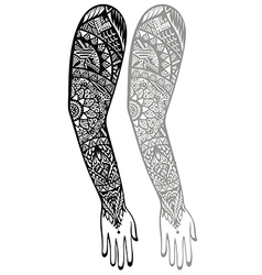 Style tattoo design vector image vector image