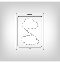 Tablet pc with chat bubbles vector