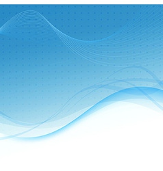 Transparent blue abstract background - waves vector image vector image