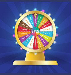 Wheel of fortune 3d object lucky roulette in flat vector