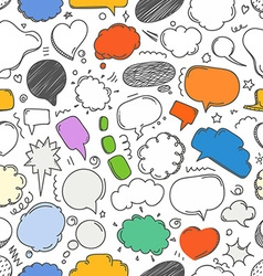 Different sketch peach clouds seamless pattern vector image