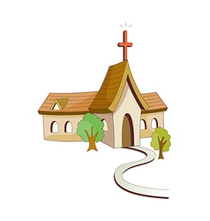 A view of church vector