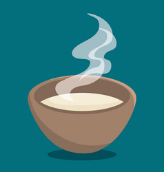 hot soup icon vector image
