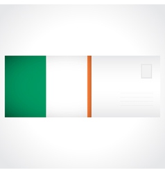 Envelope with irish flag card vector