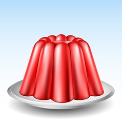 Red jelly pudding vector image