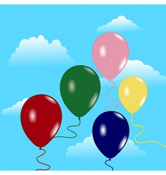 sky with balloons vector image