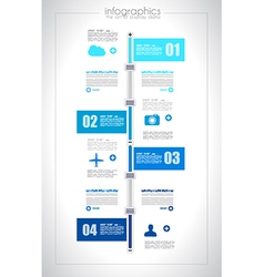 Infographic design template with paper tags i vector