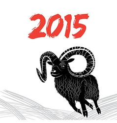 Chinese symbol goat 2015 year image design vector