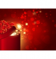 gift box with red bow vector image