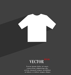 T-shirt icon symbol flat modern web design with vector