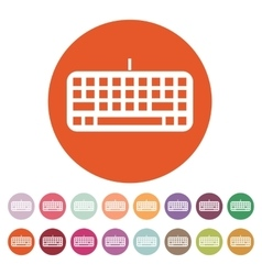 The keyboard icon keypad and input typing vector