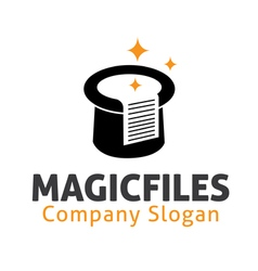 Magic files design vector