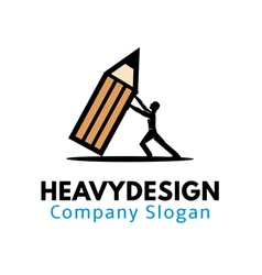 Heavy design vector