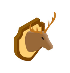 Deer head isometric 3d icon vector