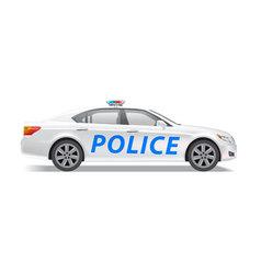 Car sedan police vector
