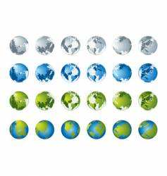 World map 3d globe series vector