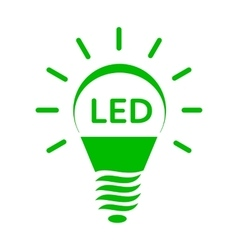 Shining led bulb light icon simple style vector