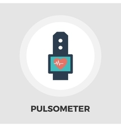 Pulsometer icon flat vector image