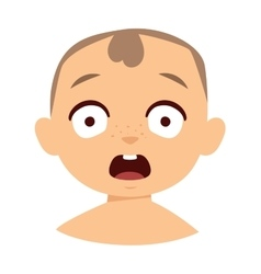 Surprised kid vector