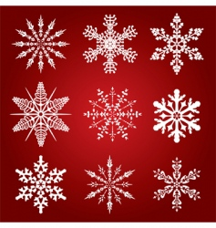 9 snowflakes vector image vector image