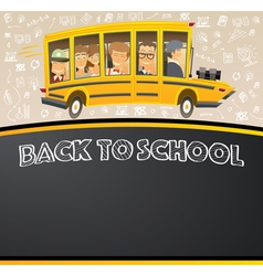 Back to school on black chalk board vector