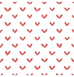 Abstract hand drawn hearts seamless pattern vector image