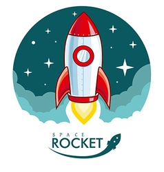 Cartoon Rocket vector image vector image