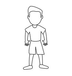 Character boy son image outline vector