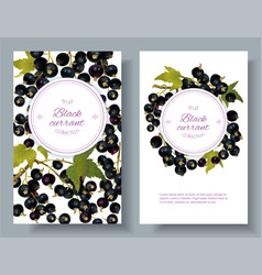 cherry vertical banners vector image vector image