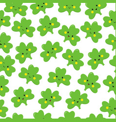 Clover emoticons or emoji characters for st vector