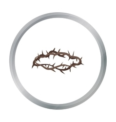 Crown of thorns icon in cartoon style isolated on vector image